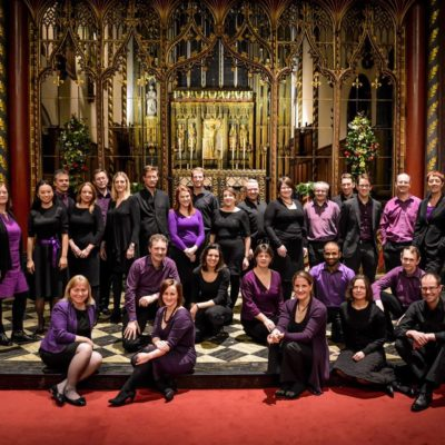 A photograph of The Elysian Singers and their conductor Sam Laughton who will be playing for Concerts for Craswall in July 2019