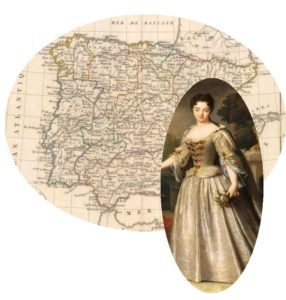 The Maiden & the Thief - an image of a map of Spain and a Spanish lady