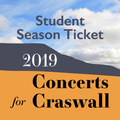 New for 2019 is the option to buy a single ticket for all three of this season's concerts. Get a small discount on single concert ticket prices for doing so.