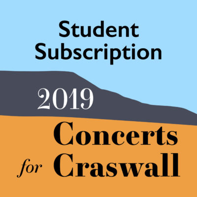 A graphic for the annual student subscription