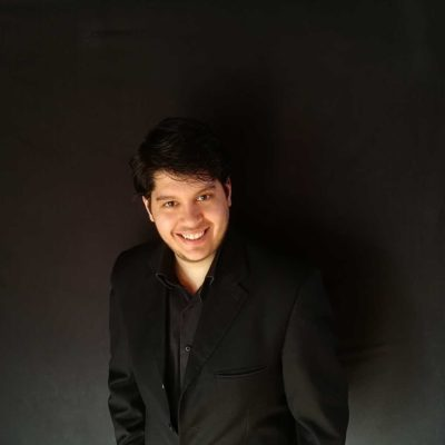 Conductor and Clarinet player Dimitri Spouras who will play for Concerts for Craswall on 10th October 2020